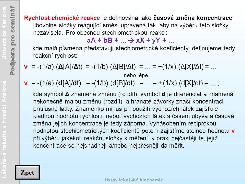 v = -(1/a).(Δ[A]/Δt) = -(1/b).(Δ[B]/Δt) = ... = +(1/x).(Δ[X]/Δt) = ...